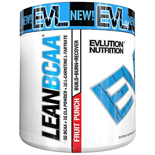 Evlution Nutrition EVL LeanBCAA Powder, Fruit Punch, 30 Servings (9.4 Oz)