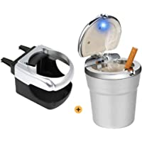Kitchen-dream Cenicero coche LED, Portavasos de cenicero, cenicero