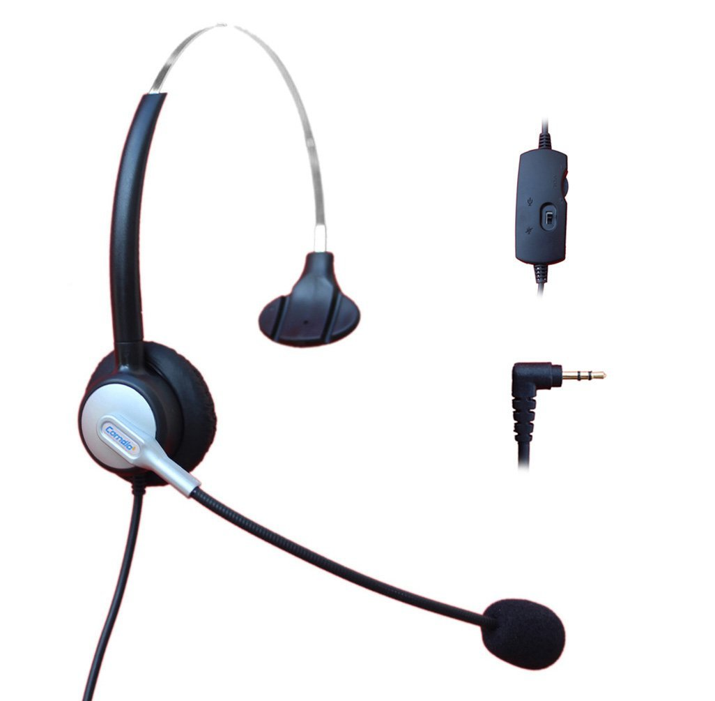 Comdio H303VP1 2.5mm Call Center Headset Headphone with Mic + Volume Mute Controls for Cisco Linksys SPA SPA921 SPA922 SPA941 SPA942 SPA962 303 501G 502G 504G 508G 509G 525G Telephone IP Phones