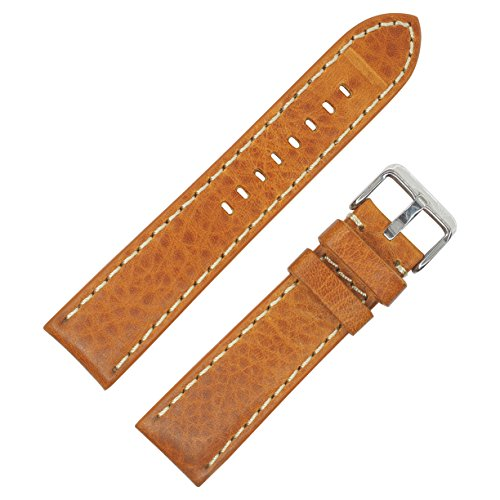 dakota-mens-tan-genuine-leather-contrast-stitched-padded-watch-band-20mm-22mm-24mm-22mm