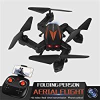 Leewa@ Florld F12W Wifi 2.4G FPV Foldable RC Quadcopter with 0.3MP HD Camera Headless Mode