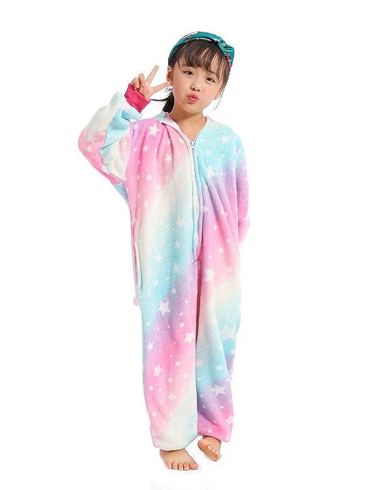 UMIPUBO Pyjamas Cosplay Kinder Jumpsuit Animals Unisex Pyjamas Onesie Nachtwäsche Bequemer Flanell Animal Sleepwear(Beinhaltet Keine Schuhe)