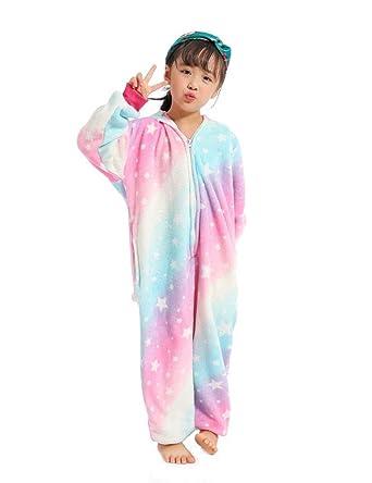 chaussures de séparation d1a73 4ac64 UMIPUBO Pyjamas Enfants Animaux Cosplay Costume Anime Grenouillère Unisexe  Pyjama Combinaison de Nuit pour Fille/Garçon