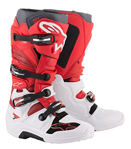 Alpinestars Tech 7 Off-Road Motocross Boot (10 US, White Red Burgundy)