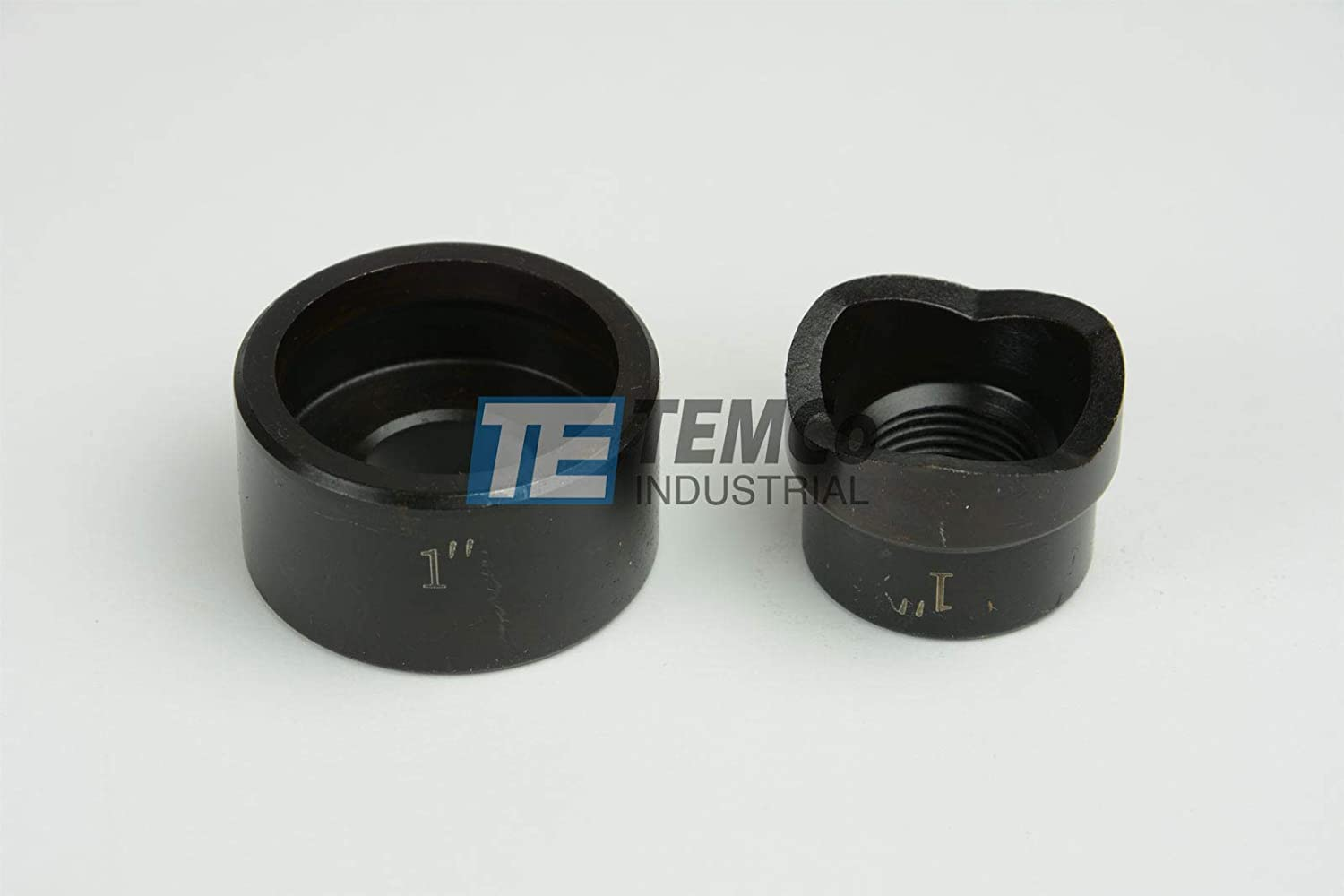 TEMCo THA034 1 Conduit Punch and Die For Hydraulic Knock Out Driver 3//4-16 Thread