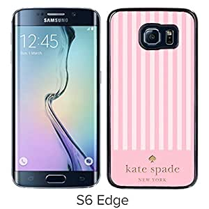 Popular And Lovely Designed Kate Spade Cover Case For Samsung Galaxy S6 Edge Black Phone Case 126