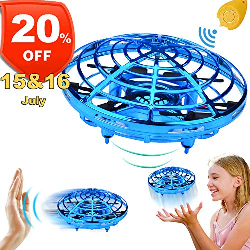 Mini Drone for Kids Adults,【July 15 & 16 Deals】 Flying Ball Hand Controlled Quadcopter Light Up Flying Toys, Two Speed Auto-Avoid Obstacles 360°Rotating Helicopter Outdoor Toys Holiday Birthday -