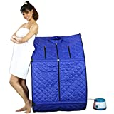 Kawachi Personal Home Therapeutic Portable Steam Spa Bath Detox Weight Loss Blue