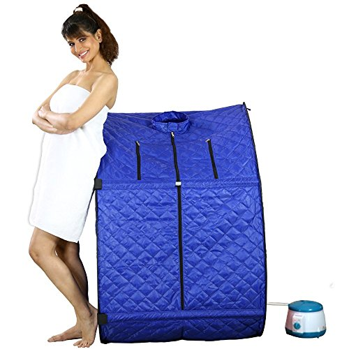 Kawachi Personal Home Therapeutic Portable Steam Spa Bath Detox Weight Loss Blue by Kawachi