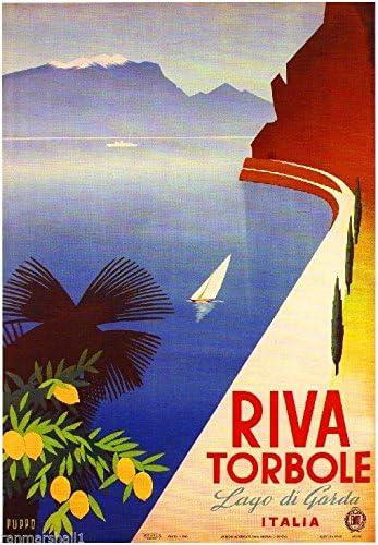 Lake Como Italy Lago Di Como Vintage Poster Print Italian Travel Advert Art