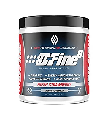 Musclewerks D-Fine8 - Fat Burner Thermogenic, Pre Workout Powder, Appetite Suppressant, Energy & Weight Loss Supplement for Men & Women - 60 Servings Vegan Friendly