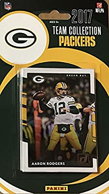 Green Bay Packers 2017 Donruss NFL Factory Factory Sealed Team Set with Aaron Rodgers, Clay Matthews, Paul Hornung plus