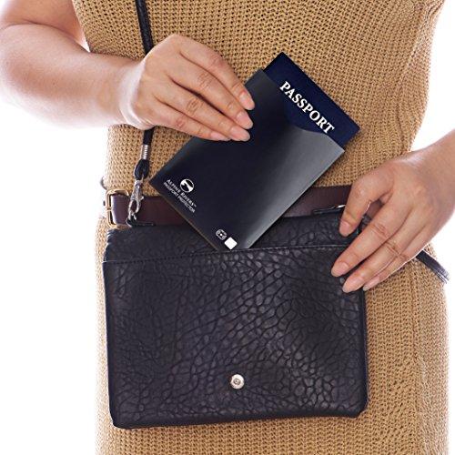 Premium 14 spel Black sluitmouwen is voor ontwerp Ultimate Rfid creditcards en 4 identiteitsdiefstal dat beschermers paspoort 18 Vrouwen tegen slank Beschermingsdeksel Intelligent mannen q17Ew