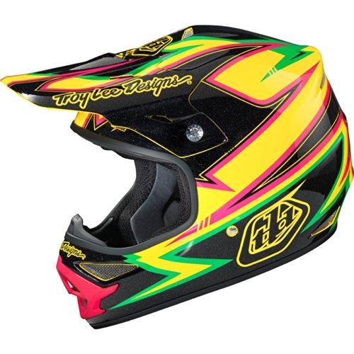 Troy Lee Designs Charge Air MotoX/Off-Road/Dirt Bike Motorcycle Helmet - Black/Yellow / Medium (Troy Lee Dirt Bike Helmet)