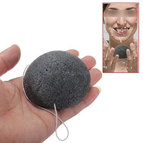pkr-black-natural-konjac-konnyaku-jelly-fiber-face-cleansing-wash-sponge-puff-hot