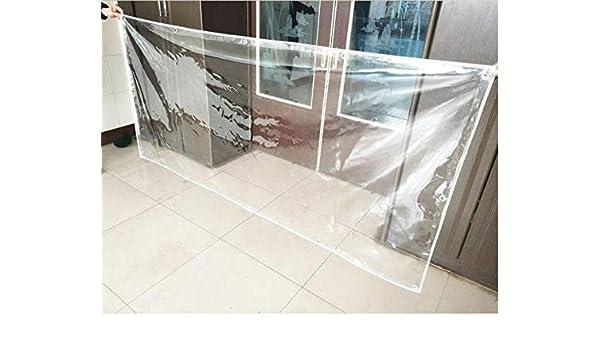 SH Transparente de Alta Resistencia Transparente Tela Impermeable, Material del PVC, de 0,3 mm de Espesor, 400 g/m², 100% Impermeable, Ojal, Patio, Cubierta Vegetal, tamaño se Puede Seleccionar: Amazon.es: Hogar