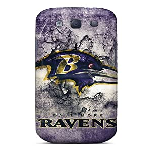 WandaDicks Samsung Galaxy S3 Scratch Protection Mobile Cases Custom Realistic Baltimore Ravens Series [LLX12225NuiO]