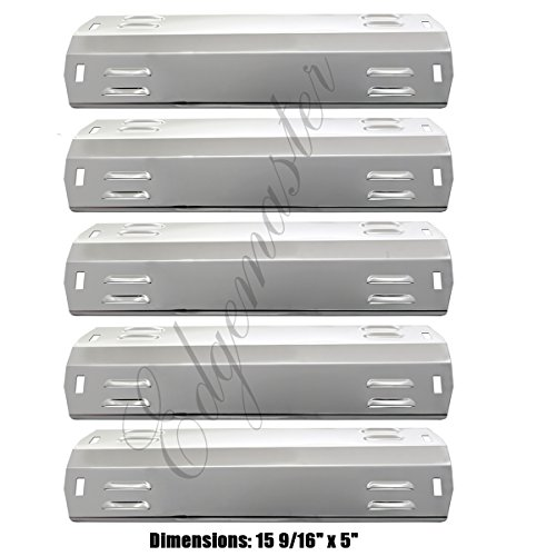 Edagemaster  5 Pack  Stainless Steel Heat Plate 113 03005 Replacement For Dyna Glo Gas Grill Models Dga480 Dga550 Grill