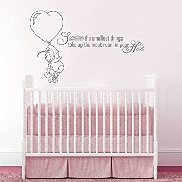Wall Decals Quotes Winnie The Pooh Quote Sometimes The Smallest