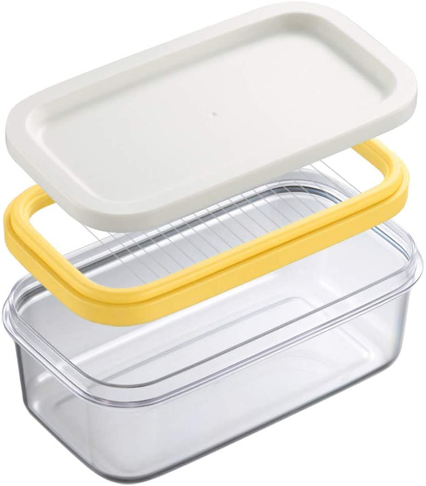 Butter Dish Butter Keeper with Cutter Slicer,Butter Box,Airtight Rectangular Food Storage Container with Butter insert, Butter Case