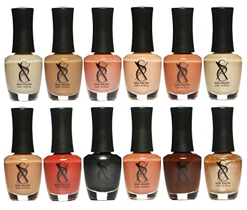 SXC Cosmetics Nail Polish Neutral Nude Lacquer 15ml/0.5fl set of 12 Colors lot - Neutral Set