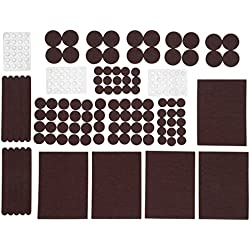 TYH Supplies Premium Furniture Pads 177 Pack Multiuse Bundle. Heavy Duty Self Stick Felt Pads for Hardwood Floor Protection + Non Slip Noise Dampening Bumper Pads Rubber. Save Surfaces from Scratches
