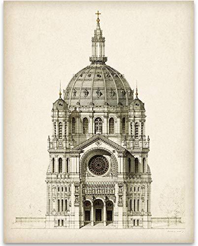 Church of Saint-Augustin, Paris - 11x14 Unframed Art Print - Great Home Decor Under $15 ()
