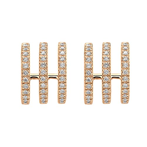 Roberto Marroni Boucles d'Oreilles Or Rose 18 carats (750/1000) Ronde Diamant Femme