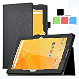 Acer Iconia One 10 B3-A20 case, KuGi ® Multi-Angle Stand Slim-Book PU Leather Cover Case only fit for for Acer Iconia One 10 B3-A20 tablet (Black)