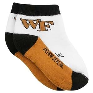 NCAA Wake Forest Demon Deacons Infant Tri-Color Team Logo Bootie Socks (0-9 Months)