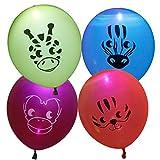 Bundle Monster Cute 12pc Light Up LED Kids Party Balloons - Safari Animal Theme
