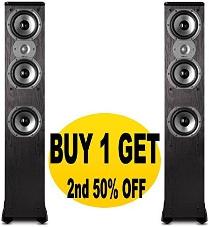Polk Audio TSi400 Floorstanding Speakers Pair Black