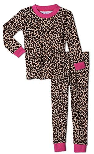 Sara's Prints Girls 2 Piece Leopard Print Pajama Set, Toddlers Size (Saras Prints Girls 2 Piece)