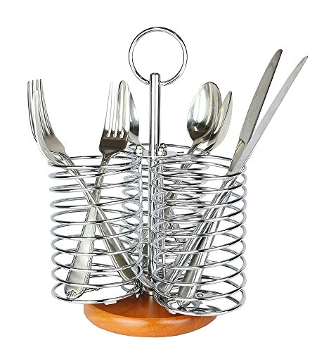 Compartment Chrome Utensil Flatware Organizer