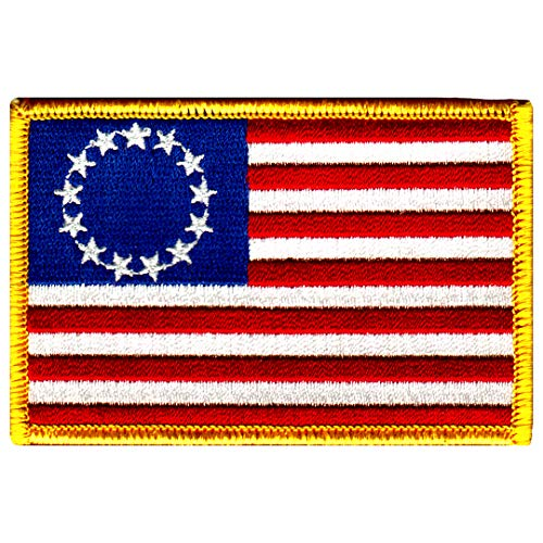 American Flag Embroidered Patch Betsy Ross 13-Stars Iron-On USA United States