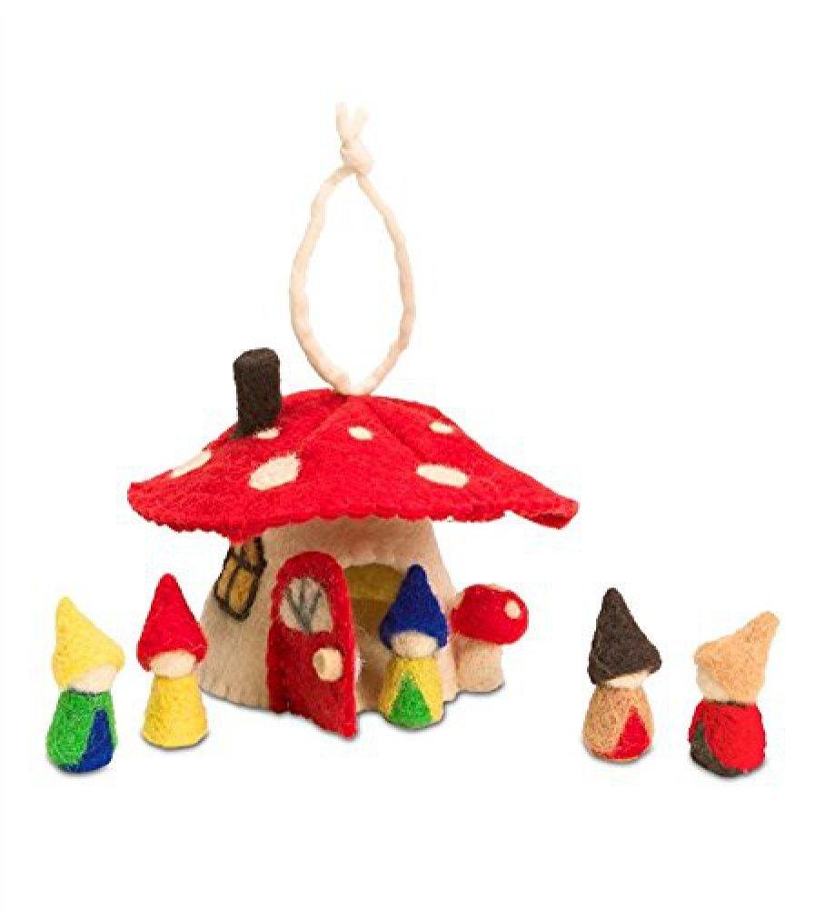 Mushroom House with Gnomes Play Set