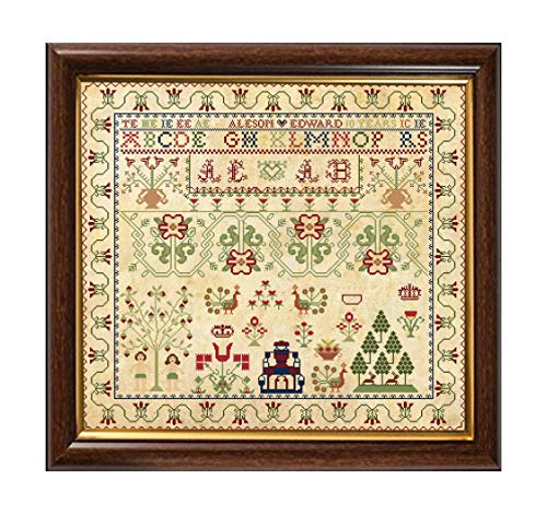 - Antique 1791 Scottish Sampler Reproduction Cross Cross Stitch Counted Chart PDF on CD Unique Easy to Make Vintage English Embroidery Needlepoint European Scotland