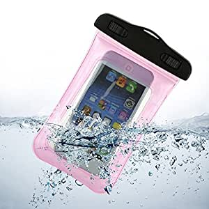 LYYF Waterproof Case,Universal Waterproof Phone Holder Case Pouch with Lanyard for Iphone 4/4s/5/5s/6, Ipod Itouch5,samsung Galaxy S3, S4,S5 Etc (Pink)