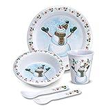 Pfaltzgraff Winterberry Melamine 5 Piece Kids Snowman Dinnerware Set