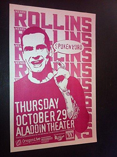 Henry Rollins Black Flag Rare Original 1998 Punk Flyer Concert Tour Gig Poster from ConcertPosterArt