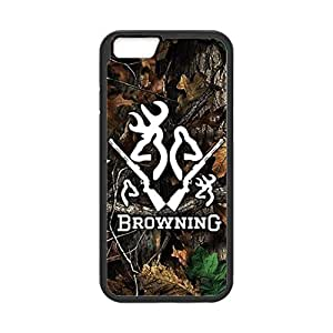 Browning Deer Camo Love Pattern for iPhone 6 Case Cover 038690 Rubber Sides Shockproof Protection with Laser Technology Printing Matte Result