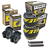 Eastern Bikes 26' Tire Repair Kit with or Without Tubes (Yellow Logo, 2 Pack with Tubes)