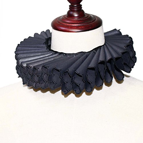 Costumes Dickens Era (MAYSONG Ruffled Collar Scarf With Black Lace)
