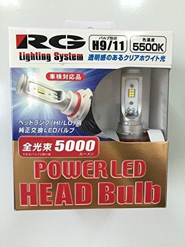 RG/レーシングギア パワーLED ヘッドバルブ RGH-P724 H9/11 5500K B00XJ6URNM