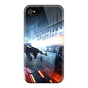 For Iphone 4/4s Premium Tpu Case Cover 2011 Battlefield 3 Game Protective Case
