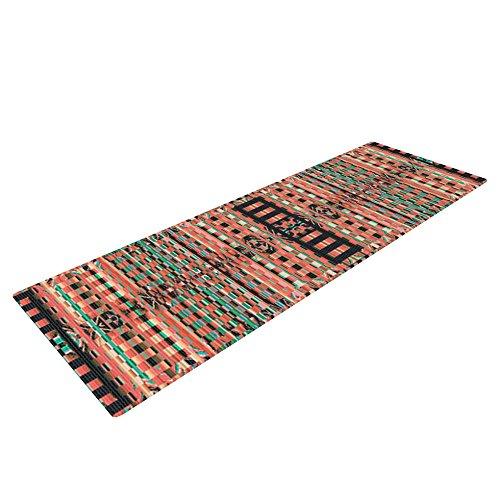 Kess InHouse Nina May Deztekka Yoga Exercise Mat, Orange, 72 x 24-inch by Kess InHouse