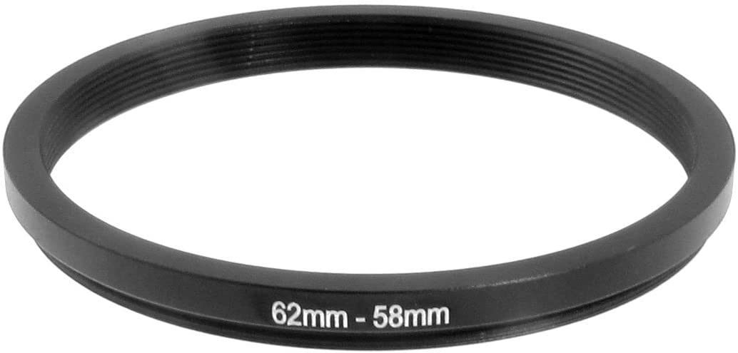 uxcell 62mm-58mm 62mm to 58mm Black Ring Adapter for Camera