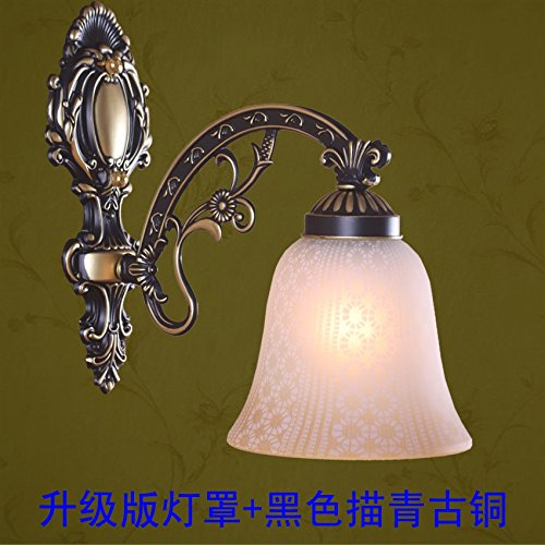 2PCS Fish Alloy European single aisle wall lamp white American retro mirror lamp Nordic Mediterranean bedroom bedside lamp FG478 ( Size : Style A white ) by WINZSC