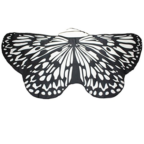 Daoroka Angelic Butterfly Wings Costume Parent-Child Cosplay Accessory (147/68CM, (Nymph Costume Makeup)