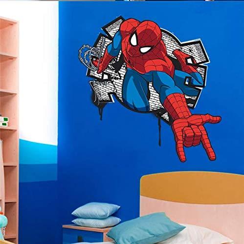 ZKPQT Spiderman 3D Pegatinas De Pared para Niños Decoración para ...